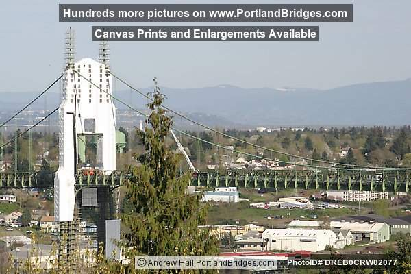 St. Johns Bridge Under Renovation, 2004 (Portland, Oregon)