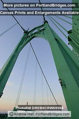 St. Johns Bridge, Looking Up (Portland, Oregon)