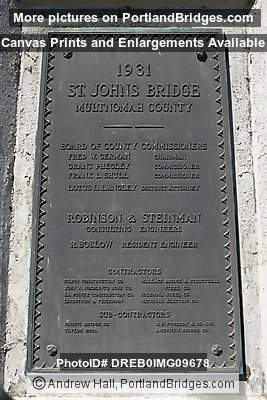 St. Johns Bridge Plaque (Portland, Oregon)