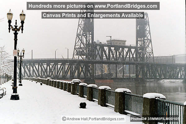 Steel Bridge in the Snow, 1996 (Portland, Oregon)