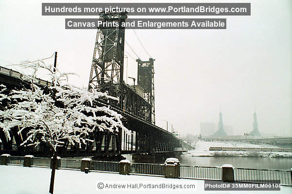 Steel Bridge, Portland Snow