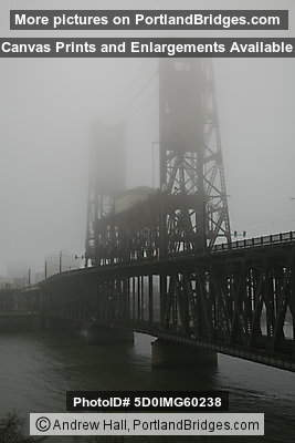Steel Bridge, Fog (Portland, OR)
