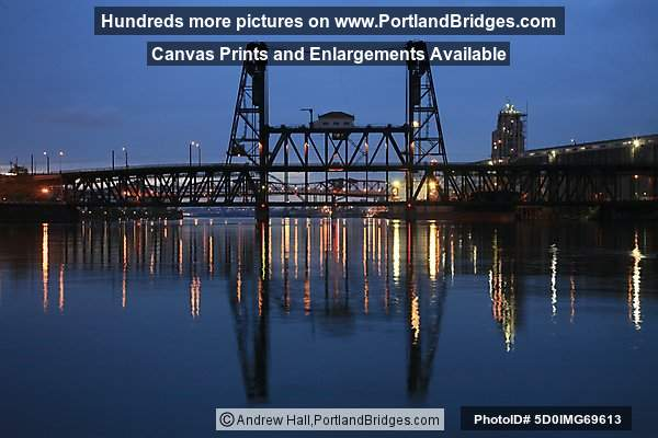 Steel Bridge, Reflection, Willamette River (Portland, Oregon)
