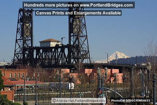 Steel Bridge and Mt. Hood (Portland, Oregon)