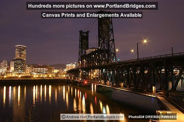 Steel Bridge, Willamette River, Daybreak (Portland, Oregon)