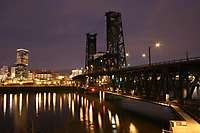 Portland Steel Bridge Daybreak