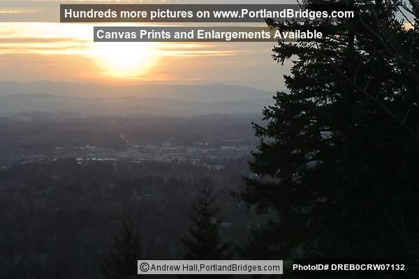 Beaverton Sunset - from Council Crest