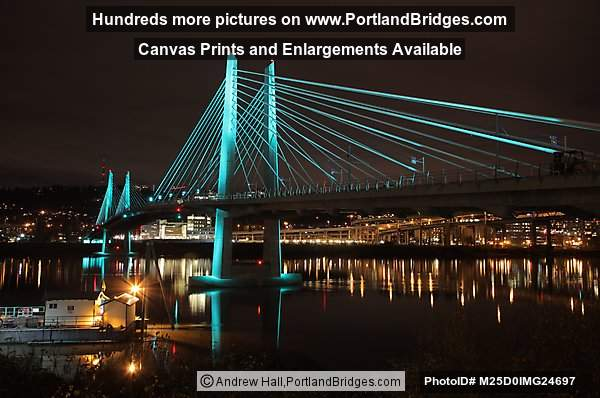 Tilikum Crossing, Lights On (Portland, Oregon)