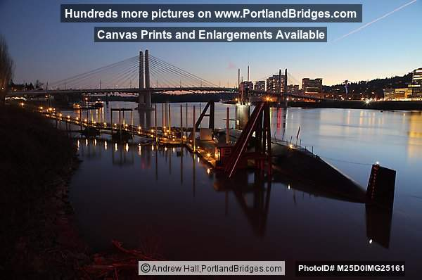 Tilikum Crossing, USS Blueback, Dusk (Portland, Oregon)
