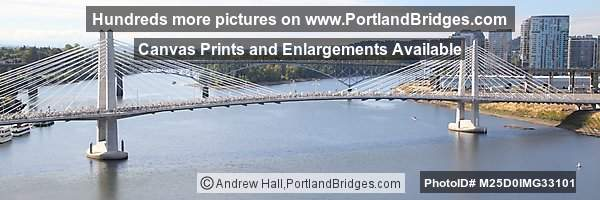 Tilikum Crossing Panoramic from Marquam Bridge (Portland, Oregon)