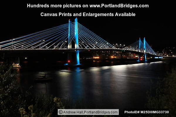 Tilikum Crossing Lit Up At Night (Portland, Oregon)