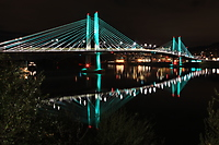 Tilikum Crossing Bridge at Night