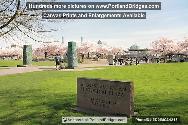 Japanese American Historical Plaza, Bill of Rights Memorial (Portland, Oregon)