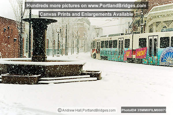 Trains and Streetcars, Portland Snow