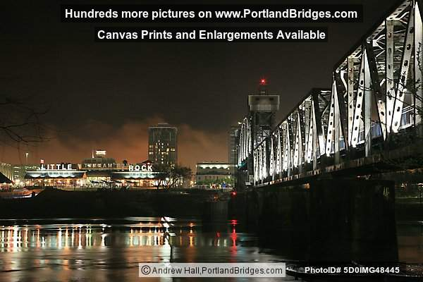 Little Rock, Arkansas at night: Junction Bridge