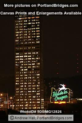 US Bancorp Tower, Former Made in Oregon Sign (Portland, Oregon)