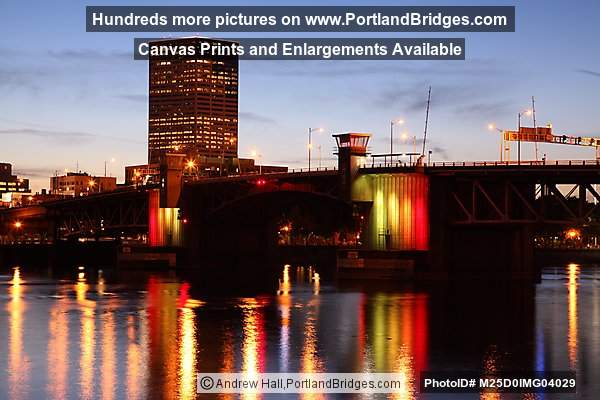 Morrison Bridge, US Bancorp Tower, Dusk (Portland, Oregon)