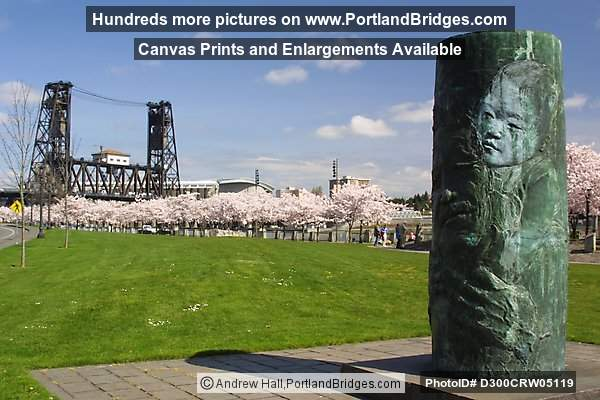 Japanese Memorial, Waterfront Park, Steel Bridge, Portland
