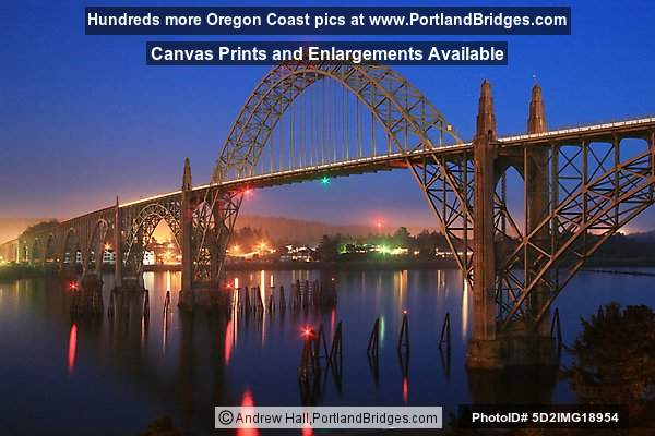 Yaquina Bay Bridge, Dusk