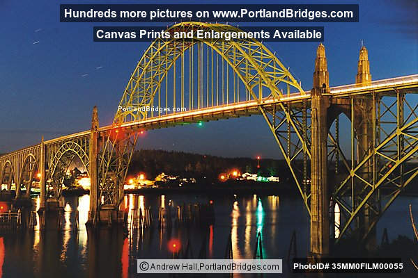 Yaquina Bay Bridge, Dusk, Newport, Oregon