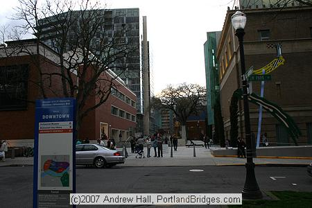 Park Blocks, Downtown Portland, at Art Museum